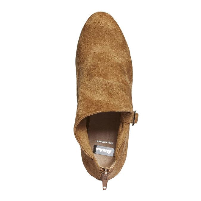 Kozaki do kostki z charakterystyczną podeszwą bata, brązowy, 799-3630 - 19