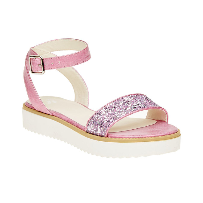 Sandały na platformie z brokatem mini-b, różowy, 361-5165 - 13