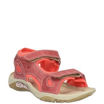 Dziecięce skórzane sandały weinbrenner-junior, czerwony, 366-5170 - 13
