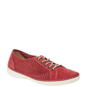 Skórzane buty sportowe weinbrenner, czerwony, 546-5238 - 13