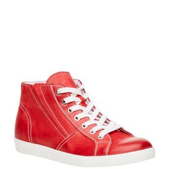 Skórzane buty sportowe do kostki bata, czerwony, 524-5310 - 13