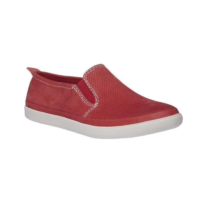 Skórzane buty Plim Soll z perforacją bata, czerwony, 514-5197 - 13