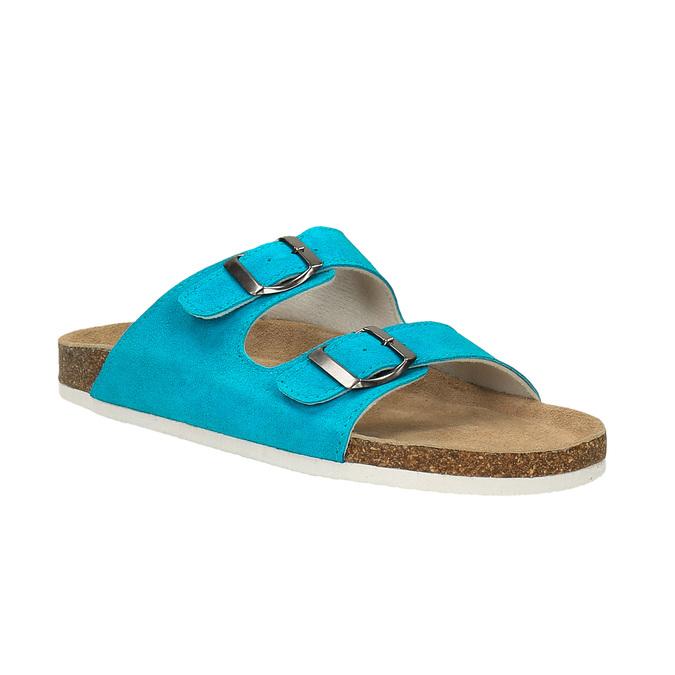 Damskie skórzane pantofle de-fonseca, 573-9620 - 13