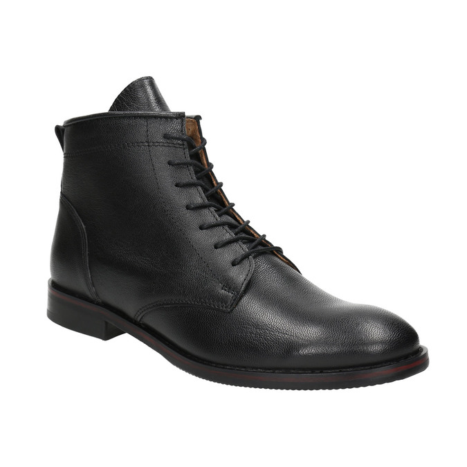 Skórzane botki bata, czarny, 594-6263 - 13