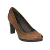 Czółenka damskie na szerszym obcasie bata, brązowy, 626-4602 - 13