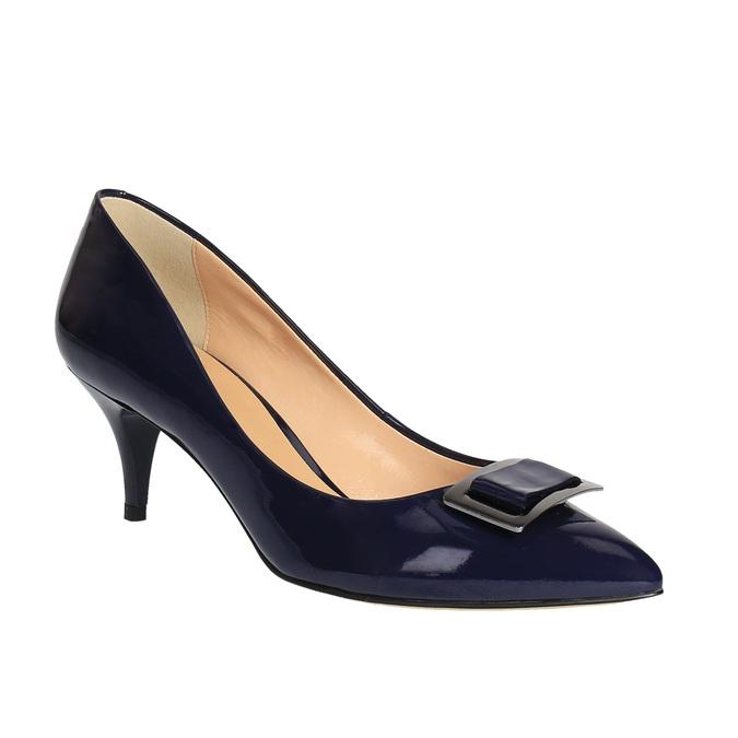 Czółenka damskie lakierowane bata, niebieski, 628-9630 - 13