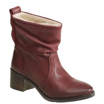 Skórzane botki bata, czerwony, 696-5108 - 13
