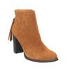 Skórzane botki z chwostem bata, brązowy, 793-4601 - 13