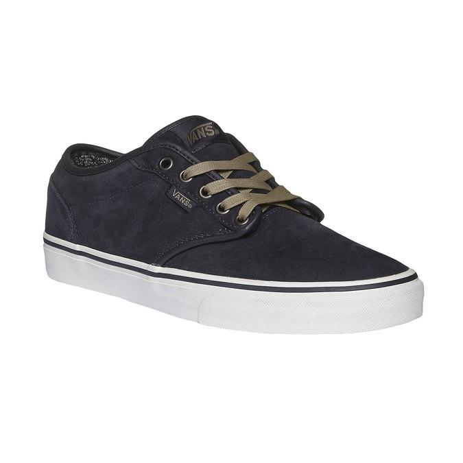 Męskie skórzane buty sportowe vans, czarny, 803-9300 - 13