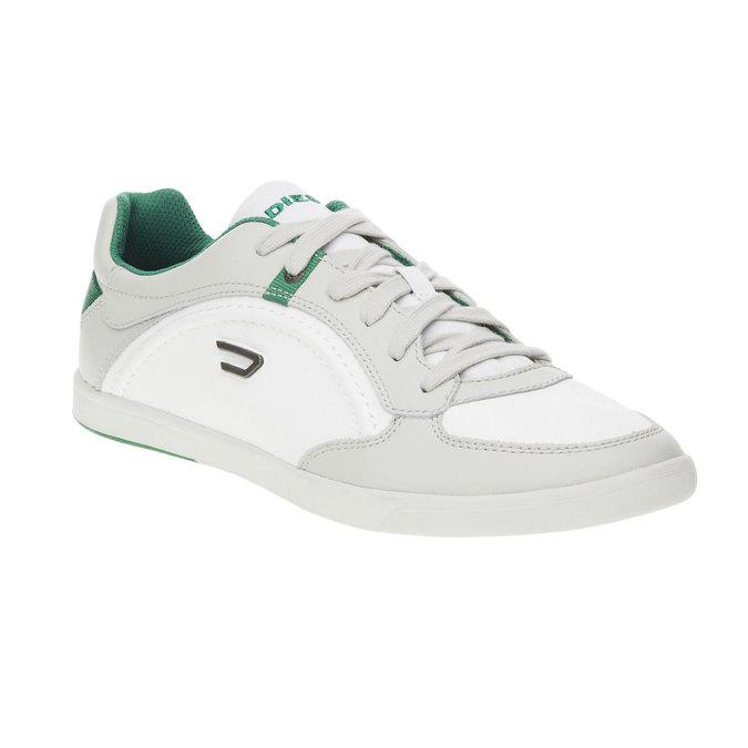 Męskie buty sportowe w codziennym stylu diesel, biały, 804-1103 - 13