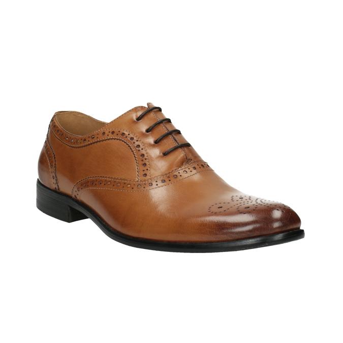 Brązowe półbuty ze skóry typu Oxford bata, brązowy, 824-3641 - 13