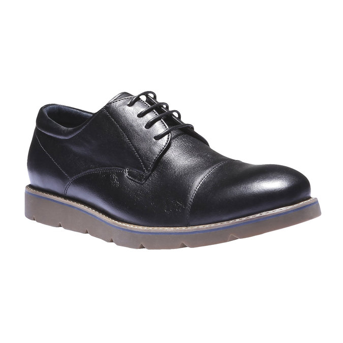 Skórzane półbuty bata, czarny, 824-6197 - 13