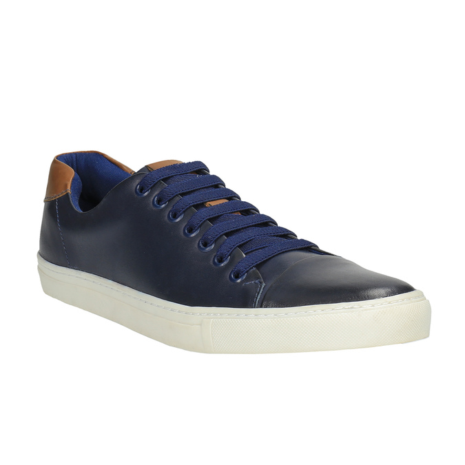 Męskie skórzane buty sportowe bata, niebieski, 844-9626 - 13