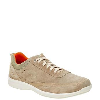Skórzane buty sportowe na co dzień, beżowy, 843-8643 - 13