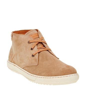 Męskie skórzane buty weinbrenner, brązowy, 843-8661 - 13