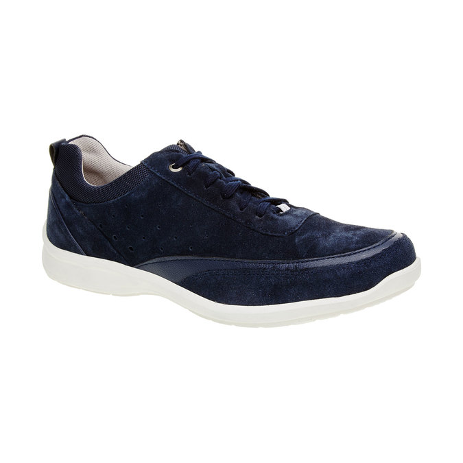 Skórzane buty sportowe na co dzień, niebieski, 843-9643 - 13