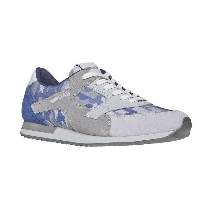 Męskie buty sportowe gas, niebieski, biały, szary, 843-9591 - 13