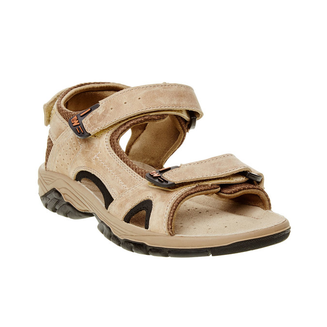 Męskie skórzane sandały weinbrenner, brązowy, 866-3107 - 13