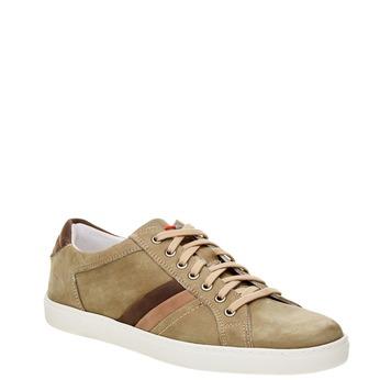 Skórzane buty sportowe na co dzień bata, beżowy, 846-7638 - 13