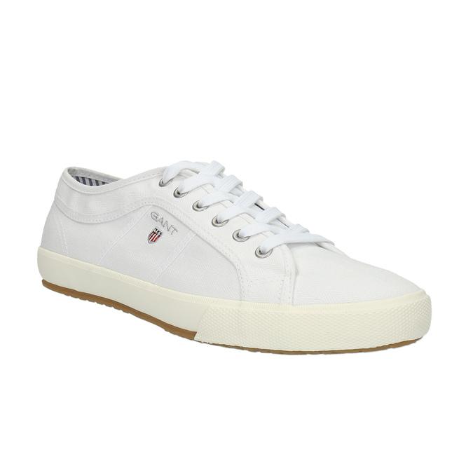 Męskie buty sportowe w codziennym stylu gant, biały, 849-1020 - 13