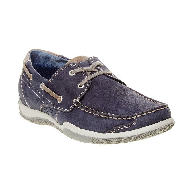 Skórzane mokasyny w codziennym stylu bata, niebieski, 856-9176 - 13