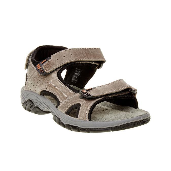 Męskie skórzane sandały weinbrenner, brązowy, 866-6107 - 13