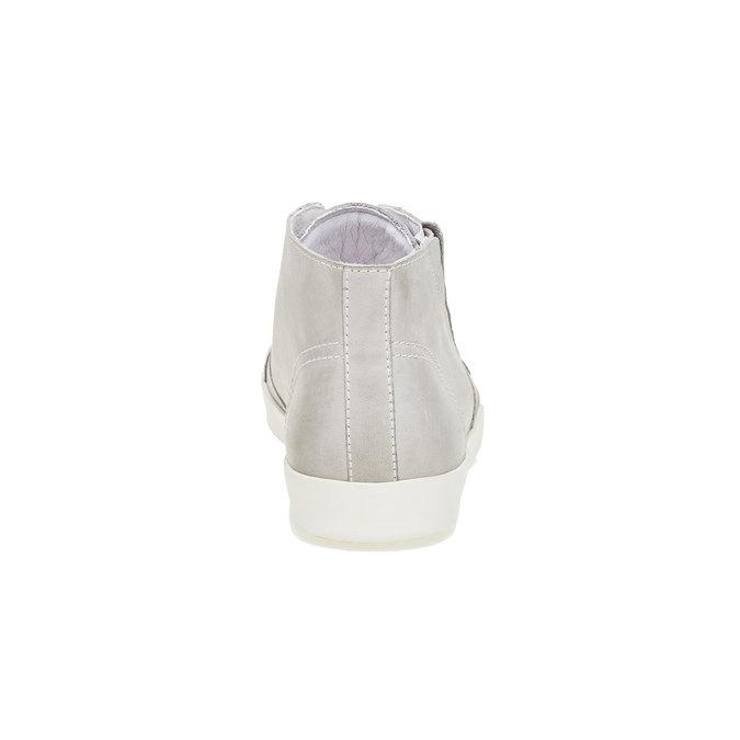 Skórzane buty sportowe do kostki bata, biały, 524-1310 - 17