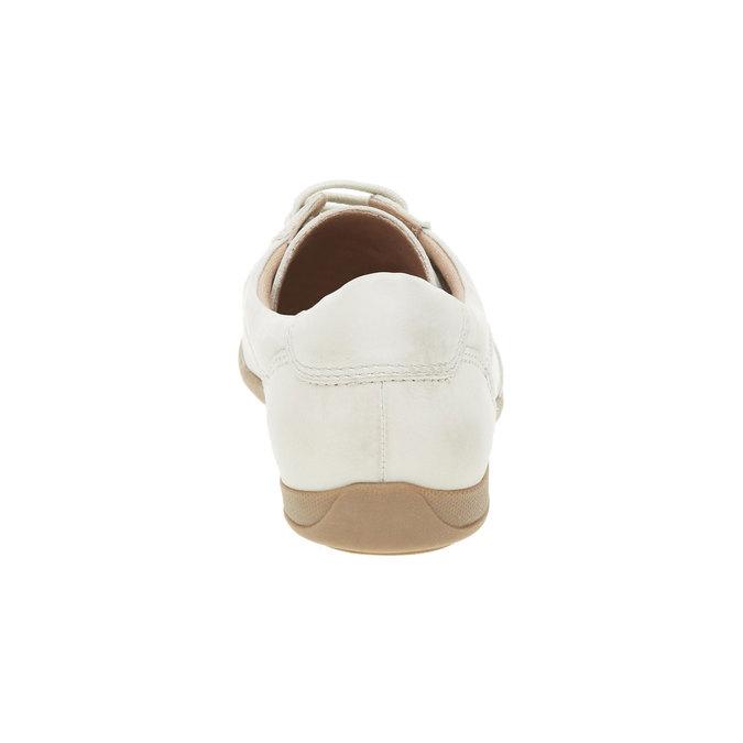 Skórzane buty sportowe na co dzień bata, biały, 524-1511 - 17