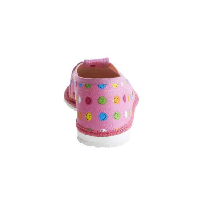 Dziecięce pantofle z uśmieszkami bata, różowy, 179-5105 - 17