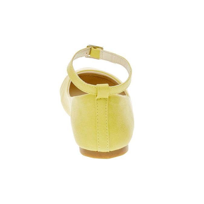 Żółte baleriny z paskiem mini-b, żółty, 321-8181 - 17