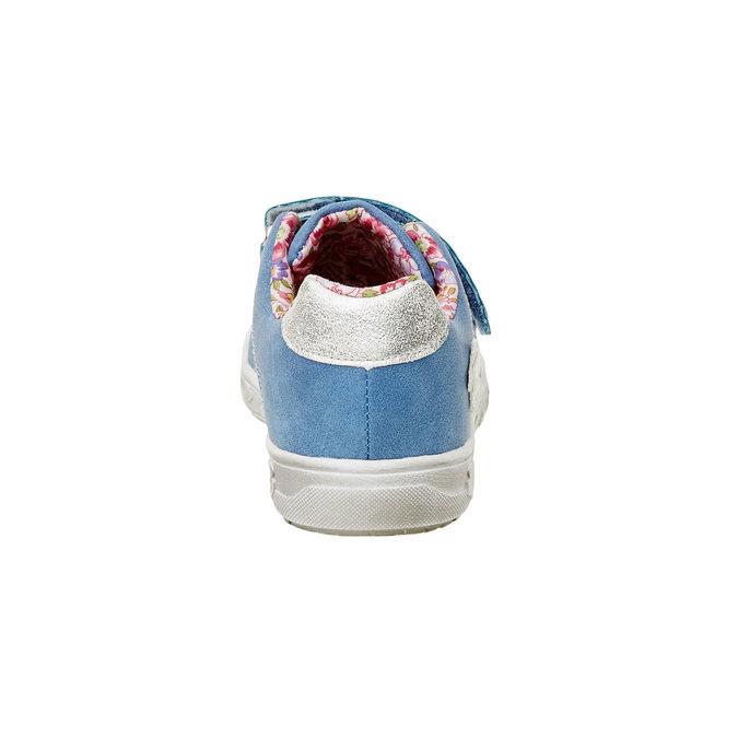 Dziewczęce buty sportowe na rzepy mini-b, niebieski, 221-9161 - 17