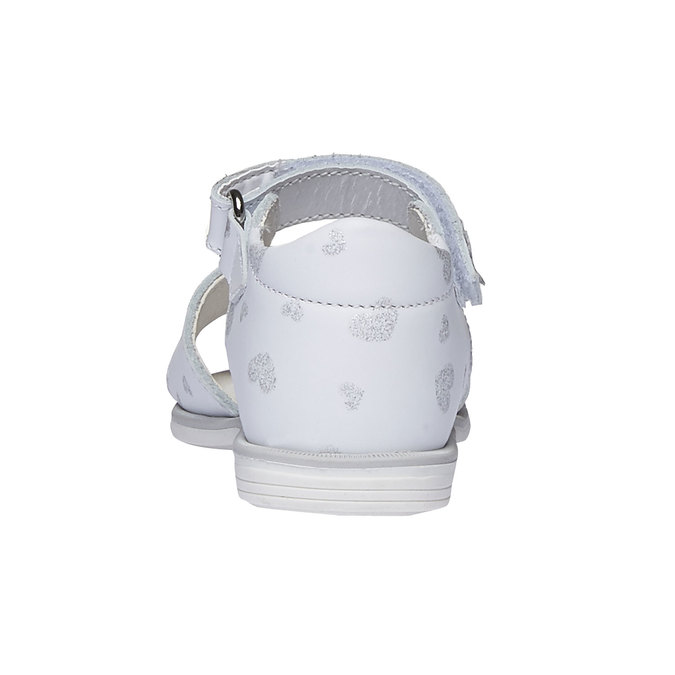Białe sandały dziecięce bubblegummer, biały, 164-1129 - 17