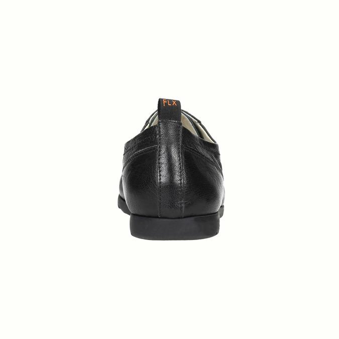 Damskie skórzane półbuty flexible, czarny, 524-6565 - 17