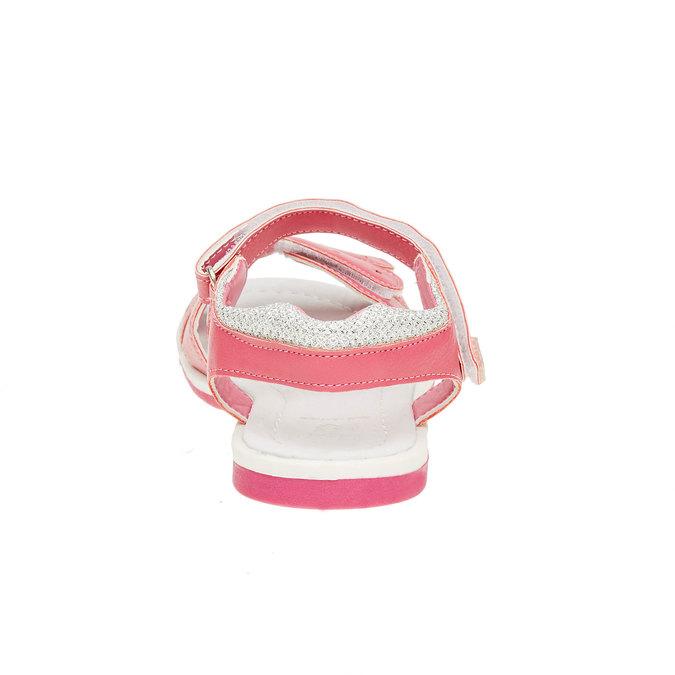Dziewczęce sandały na rzepy mini-b, różowy, 361-5180 - 17