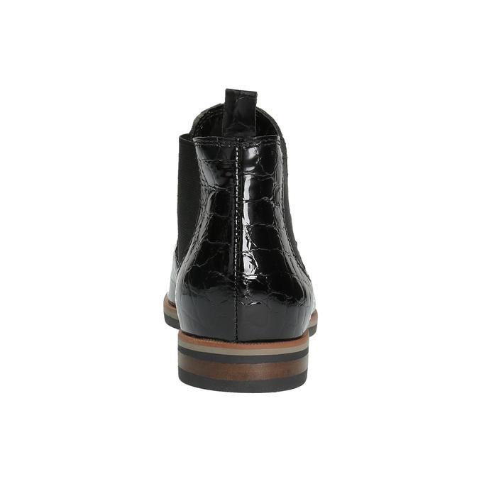 Chelsea boots ze skóry bata, czarny, 598-6600 - 17