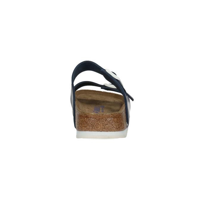 Skórzane klapki z korkową podeszwą birkenstock, niebieski, 866-9008 - 17