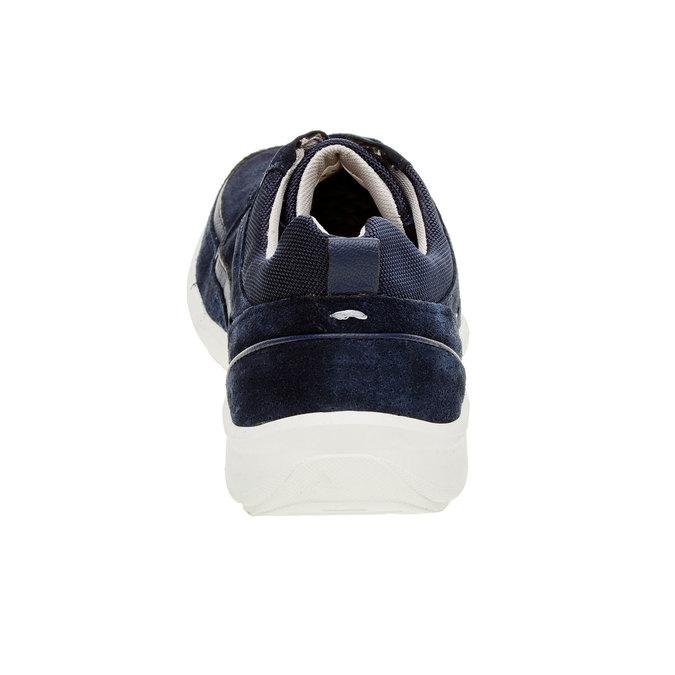 Skórzane buty sportowe na co dzień, niebieski, 843-9643 - 17