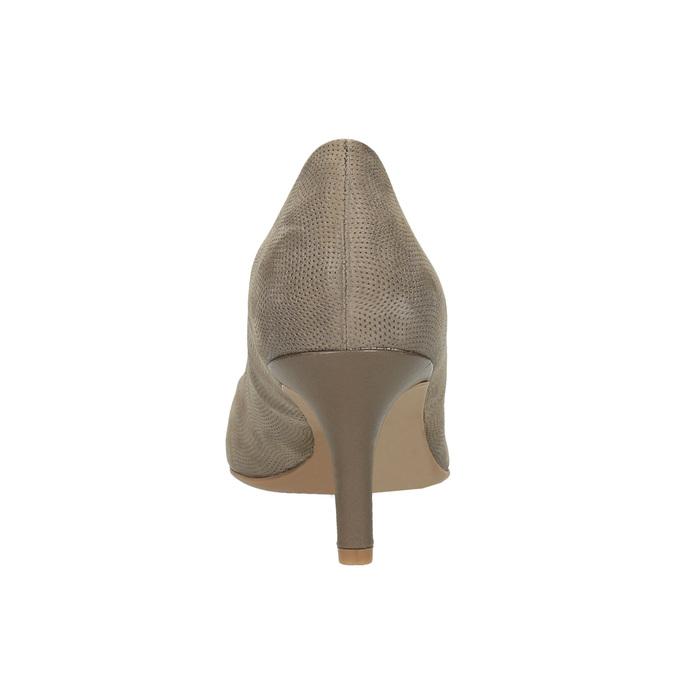 Czółenka damskie na średnio wysokim obcasie bata, brązowy, 626-2601 - 17