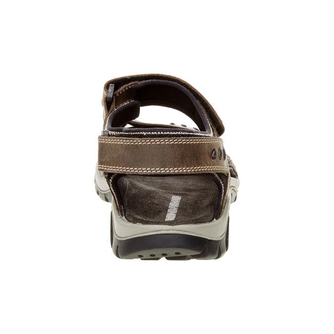 Męskie skórzane sandały weinbrenner, brązowy, 866-2105 - 17