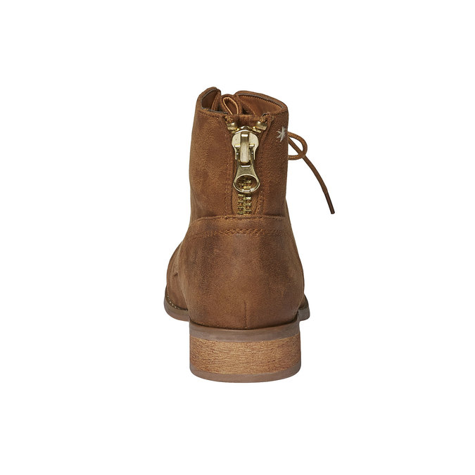 Skórzane sznurowane buty bata, brązowy, 599-3493 - 17