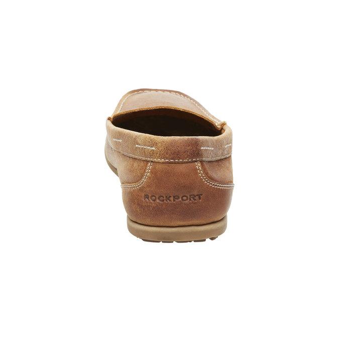 Męskie skórzane mokasyny rockport, brązowy, 816-3101 - 17