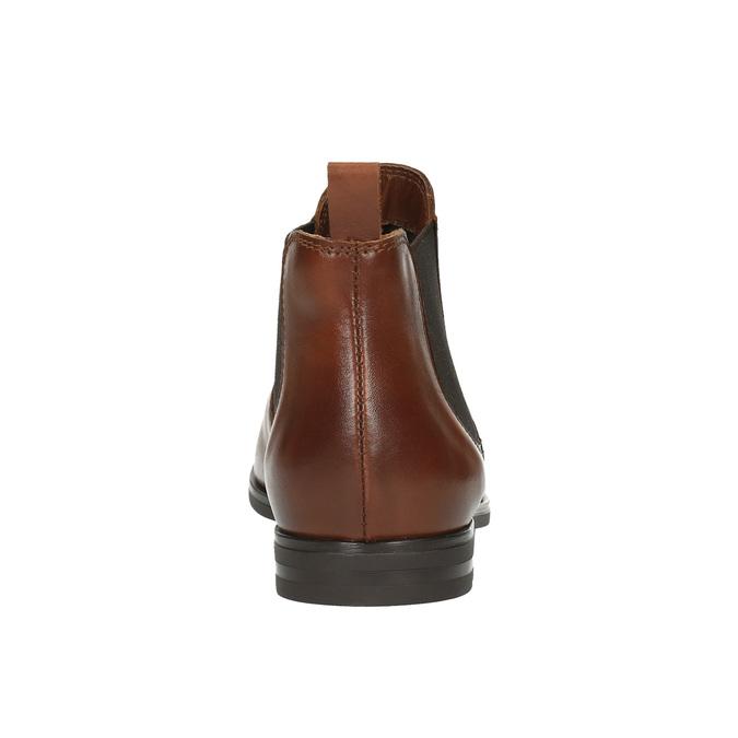 Brązowe skórzane buty Chelsea Boots bata, brązowy, 594-4604 - 17