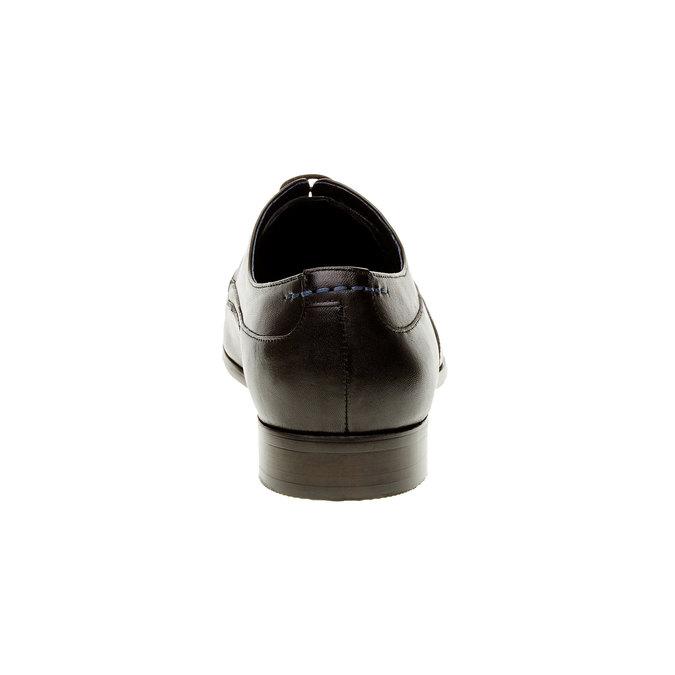 Męskie skórzane półbuty bata, czarny, 824-6663 - 17