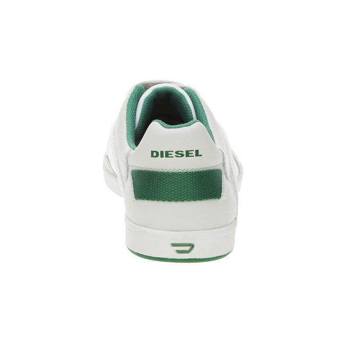 Męskie buty sportowe w codziennym stylu diesel, biały, 804-1103 - 17
