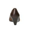 Skórzane czółenka na koturnie bata, brązowy, 626-4603 - 17