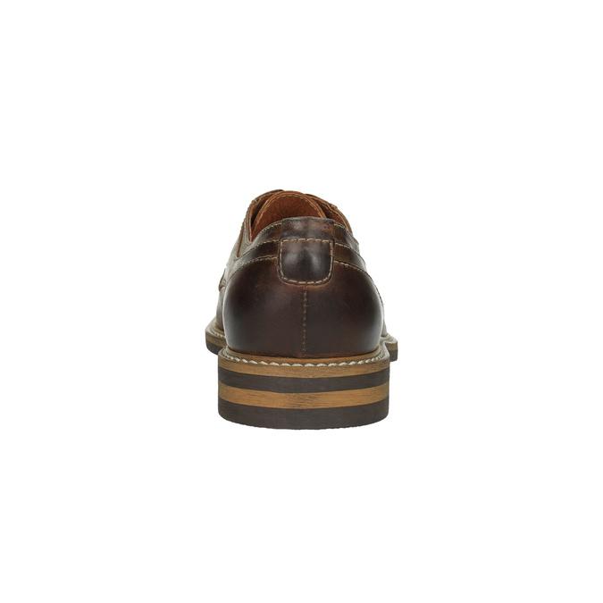 Skórzane półbuty w nieformalnym stylu bata, brązowy, 824-4654 - 17