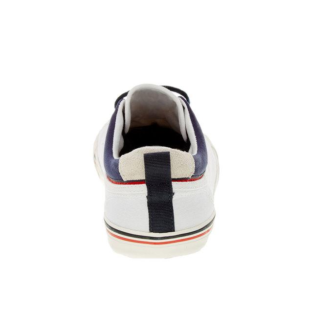 Męskie buty sportowe w codziennym stylu pepe-jeans, biały, 849-1016 - 17