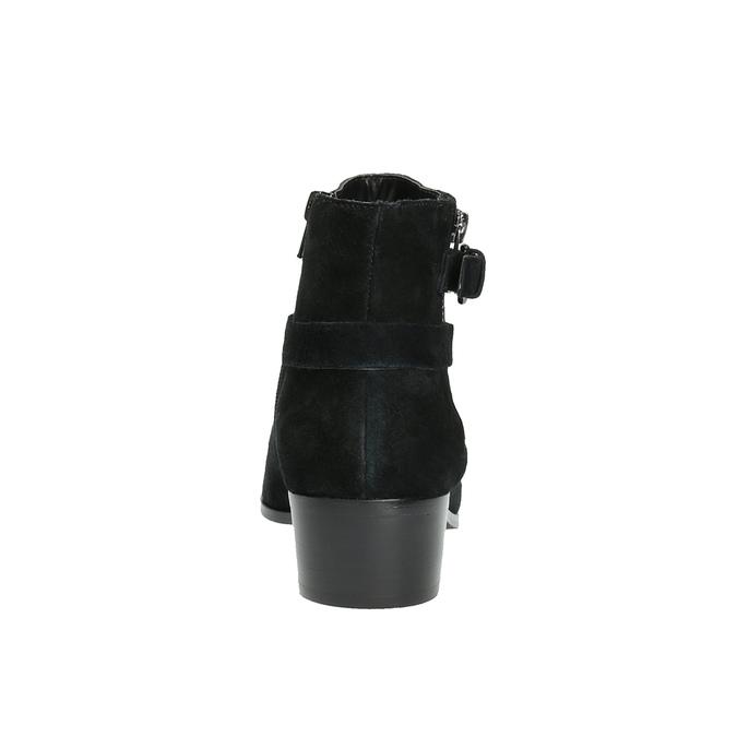 Botki za kostkę zamszowe bata, czarny, 693-6600 - 17