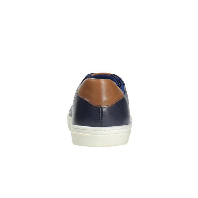 Męskie skórzane buty sportowe bata, niebieski, 844-9626 - 17