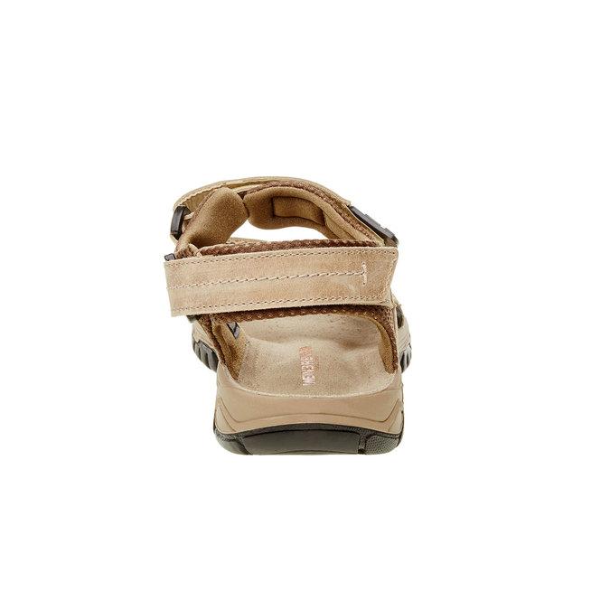 Męskie skórzane sandały weinbrenner, brązowy, 866-3107 - 17